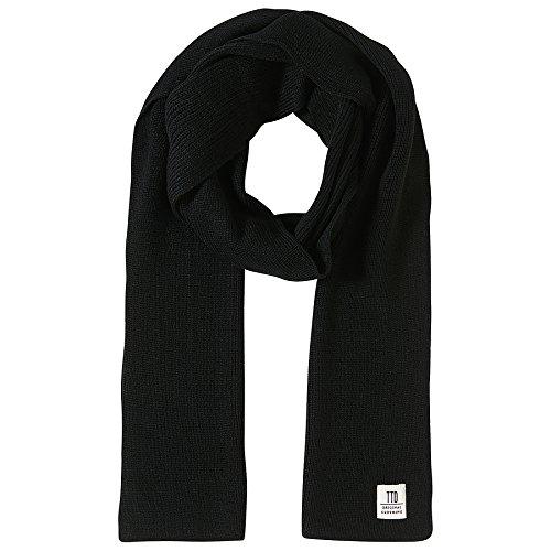 TOM TAILOR DENIM für Männer Accessoire schlichter Strickschal black OneSize