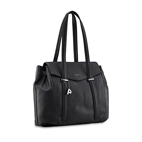 PICARD Pleasure 2409 Tasche Damen Schultertasche Shopper 40x28x14 cm (BxHxT), Farbe:Schwarz Schwarz