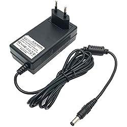 EMEXIN 30V 500mA Chargeur Adaptateur Alimentation pour Aspirateur Sans Fil Bosch Zoo'o BCH6ZOOO / BCH65PET, Bosch 25,2V BCH6L2561, BBH6PZOO, BBH6P25K, BBH625W60, BBH6P25 / Bosch Siemens Câble 1.8M
