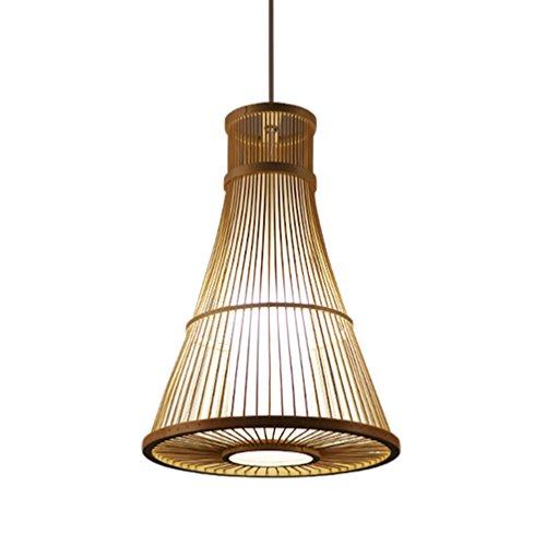 Bambus-schlafzimmer Kopfteil (XZG Bambus Kronleuchter, Restaurant Kronleuchter Schlafzimmer Kopfteil Bambus Lampe Flur Kronleuchter Zen Tea Room Lampen E27, 30 * 42CM Einstellbare Hanging Wire 150cm Innenbeleuchtung)