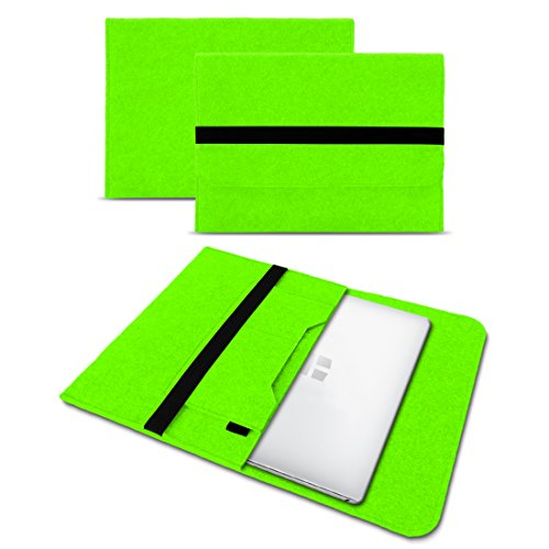 Sleeve Hülle für Odys Winbook 13 Tasche Filz Notebook Cover 13,3 Laptop Case , Farbe:Grün