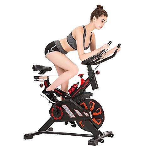 Yhjklm Professionelles Heimtrainer Spinnrad Advanced mit Trainingscomputer und elliptischem Crosstrainer Stationärfahrrad für Zuhause Cardio-Workout
