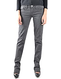 Ralph Lauren Women's MCBI251001O Grey Cotton Jeans
