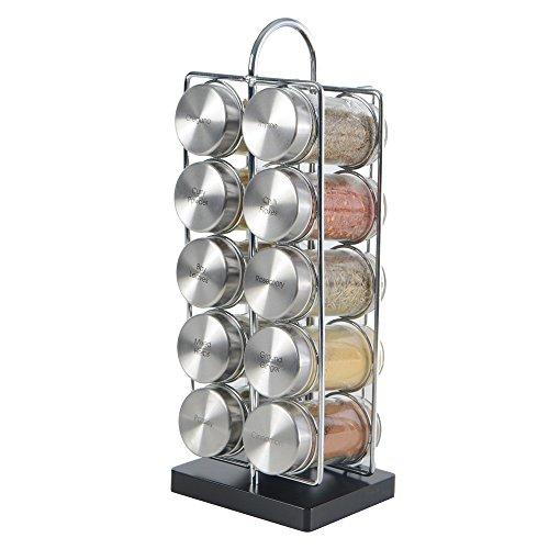 ProCook modernes Gewürzregal   10 Gewürzgläser   Gewürzregal für Küchenschrank und Arbeitsfläche   Küchen-Organizer   10 Gewürze