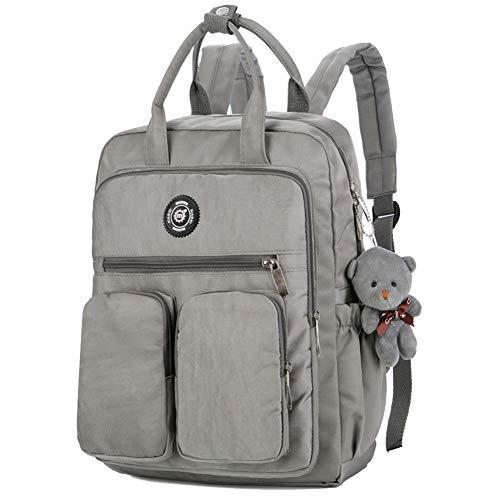 aeb39b37b2b56 Women Backpack Multi-Pocket Large Capacity School Backpack Nylon School Bags  Waterproof Hiking Backpack Laptop
