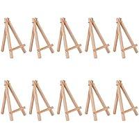YoungRich 10 Piezas Mini Caballetes de Madera Artista Triángulo Soporte de Mesa Soporte de la Exhibición Decoración Madera Caballete Simple de Moda Ideal para Bodas Fiestas Celebraciones Café Menús