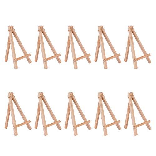 YoungRich 10 Stück Mini Holz Staffelei Künstler Dreieck Tischständer Display Halter Dekoration Telefon Ständer Einfach Modisch Great für Hochzeiten Parteien Feiern Café