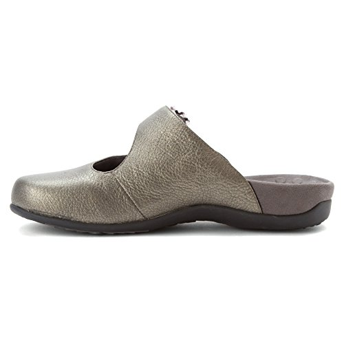 Vionic By Orthaheel Women's Joan Black Fabric And Leather Casual 8 B(M) US Gris - Pewter Metallic