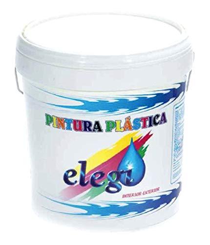 Pintura Plastica Blanca Mate Lavable de Alta Calidad 14kg. Interior-Exterior