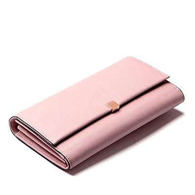ZLR Mme portefeuille Portefeuille en cuir à la longue section Portefeuille en cuir à grande taille Wallet