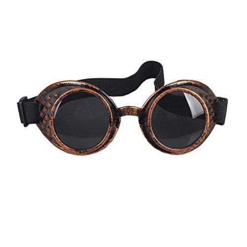 DODOING Brillen Weinlese-Art Steampunk Goggles Welding Punk Vintage Brille Cosplay
