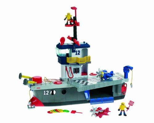 Imagen 1 de Fisher-Price - Imaginext - Portaaviones Héroes del Aire (Mattel)