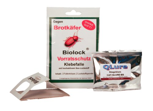 BIOLOCK Agrinova Brotkäferfalle 2 Fallen + 2 Lockstoffe (2-teilig)/Set