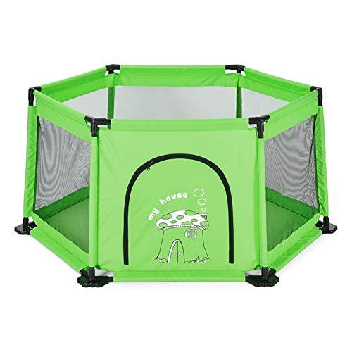 WYDM Zona de Juegos Infantil Cerca de un bebé Infantil Cerca de un Patio de recreo Resistente a roturas de 6 Paneles (Color : Green)