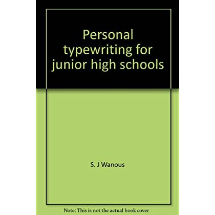 Personal typewriting for junior high schools