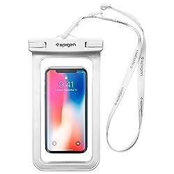 """Spigen wasserdichte Handyhülle [A600] *IPX8-zertifiziert* [bis 6,2"""" Zoll] Pemium Universal wasserdichte Staubdichte Handytasche für Handys iPhone/Galaxy/Huawei/OnePlus/Moto - Weiß"""