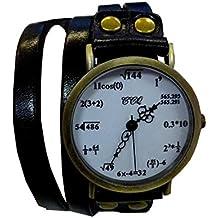 Geek Reloj de pulsera con fórmulas matemáticas