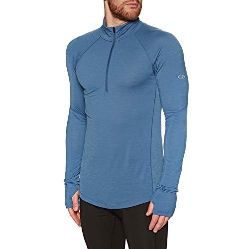 Icebreaker Herren 150 Zone Long Sleeve Half Zip Funktionsshirt, Thunder/Monsoon, XL Half Zip Training