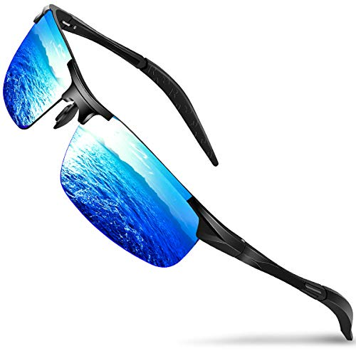 ae104c15b87eed Mens Sunglasses Driving Polarized Sun glasses Sports- Dada-Pro Brand  Designer Mirrored Retro Shades