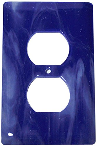 Kobalt-swirl (Aquila Art Glass wp2060–1GR weiß Swirl Kobalt Blau 1Gang Köcher)