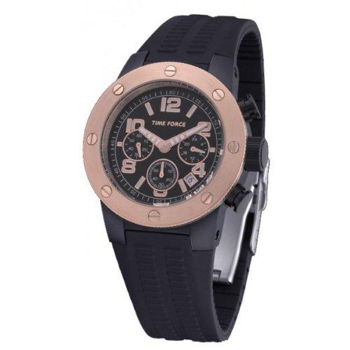 Time Force TF4004M15 - Reloj para hombre con correa de caucho, color negro / gris