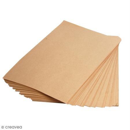 Braune Flyer (Clairefontaine 3708C Packung mit 250 Blatt Kraftpapier (90g, DIN A4, 21 x 29,7 cm, ideal für Kunstprojekte und zum Einpacken) braun)