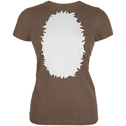 Halloween Baby Reh Rehkitz Kostüm Junioren weichen T Shirt Heather Brown 2XL (Baby Rehkitz Kostüm)