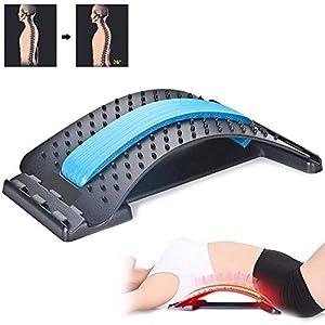 QJXF Multi-Level-Rücken-Stretching-Gerät, Rücken-Stretcher-Gerät Lendenwirbelsäule-Dehn Brett Für Die Buckel-Lendenwirbelsäule Verbessern Haltungs Werkzeug Rückenschmerzen