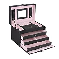Large Jewellery Box Gift Storage Case for Girls Necklace Watch Display Armoire