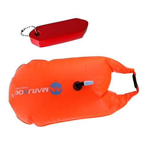 perfeclan Foam Tube Floating Keychain Schlüsselanhänger Float Tow Dry Bag Rot Orange