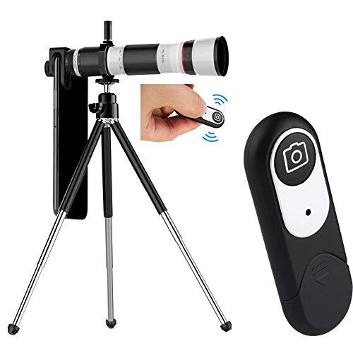 WQYRLJ 4K HD Handy Teleskop, 16-35X Teleskop Kamera Zoomobjektiv Für Smartphone Lente 3 Section Einstellbare Handy Teleobjektive