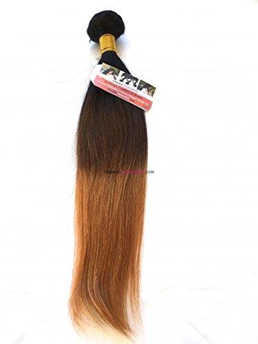 Tissage-extension - Tissage péruvien Lisse Noir/Marron/Blond foncé Remy hair Grade 7A+ - 12 pouces
