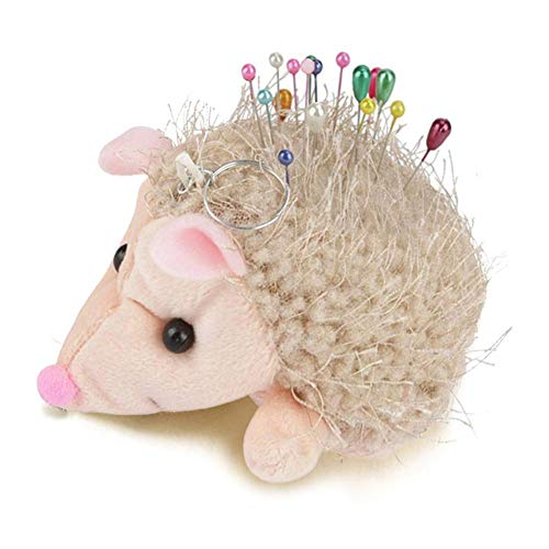 Lacyie maglia pincushions hedgehog puntaspilli patchwork pin holder for short spilli e aghi a