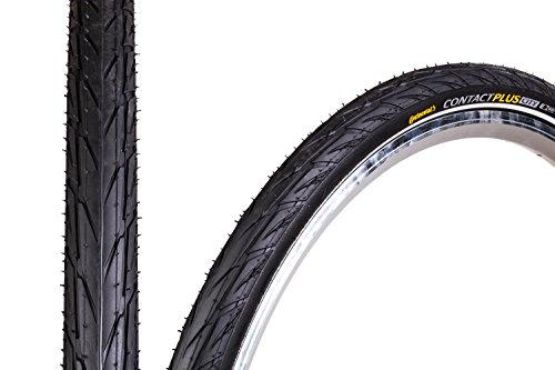 "28\"" Zoll Continental Contact Plus City Fahrrad Reifen 28x1.6 Mantel 42-622 Decke Tire schwarz Reflex"