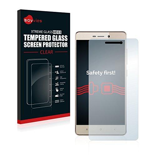 savvies Protector Pantalla Cristal Templado Compatible con Xiaomi Redmi 3S - Dureza 9H