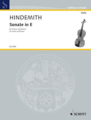 Sonate in E: Violine und Klavier. (Edition Schott)