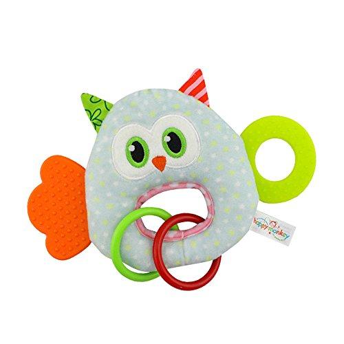 eborenen Baby Weichem Plüsch Spielzeug Schöne Beißring Rassel Kinderkrankheiten Spielzeug (Eule) ()