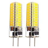 GLMING 3.5W GY6.35 72-5730 SMD LED-Birne G6.35 Bi-pin base AC12V DC12V-24V Silikon-Kristallbirne Super Bright Warmweiss 2 Stück