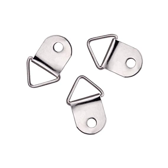 100PCS Triangle D Rings Hanging Picture Oil Painting Frame Hanger Hooks Home Tool Accessories