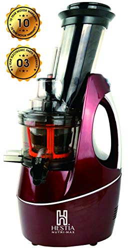 6.Hestia Nutri-Max Cold Press Juicer (Wine Red)