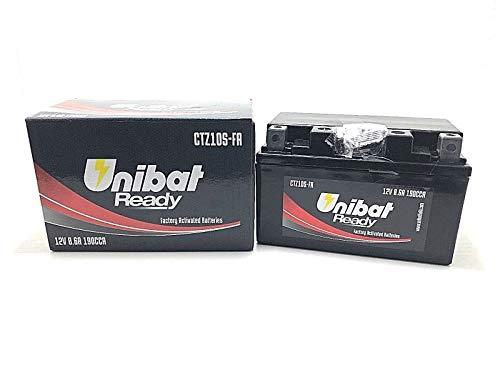 Batteria Moto Pronta all'Uso UNIBAT READY CTZ10S-FA FZ8 CBR 600 RR CBR 500 RIVALE