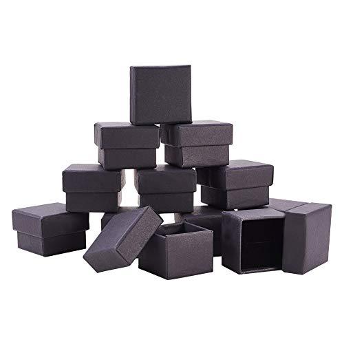 BENECREAT 24 Pack Negra Caja Joya Caja Cartón Craft