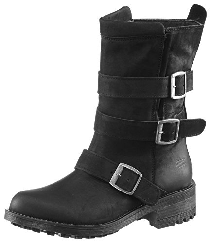 Shoot Damen Bikerboots Schwarz