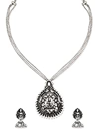 Zaveri Pearls Jewellery Set For Women (Silver) (ZPFK6319)