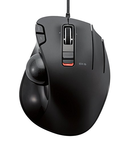ELECOM - Ratón trackball con cable, 6