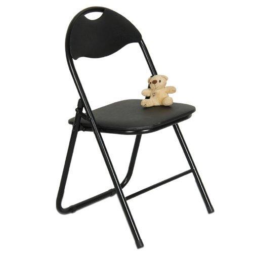 Se Pliant Chaise de Camping Chaise de Lune Chai Chaise à Papillon (44 * 47 * 79cmcm en métal Noir + PVC) Acier Inoxydable