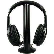 Teamore 5IN1 del Auriculares Inalámbrico Casco Inalámbricos De Audio De Alta Fidelidad Radio TV FM MP3 MP4