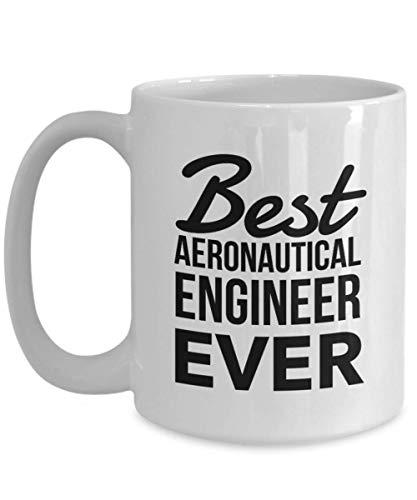 Regalos de ingeniero aeronáutico de taza de porcelana: la mejor taza de café, ideas de regalo de agradecimiento para cumpleaños Navidad, taza de 11 oz