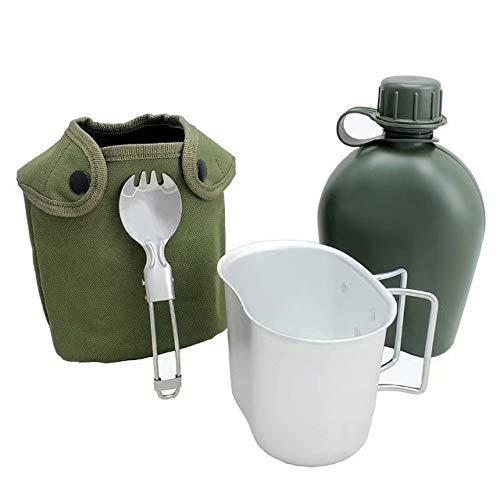 BeGrit 1 Quart Outdoor Kessel Kantine Kit mit Aluminium Cup und Cover zum Wandern Camping -