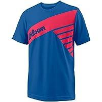 Wilson B SLANT TECH TEE - Camiseta, Niño, Azul(PRINCE BLUE)